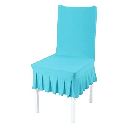 Amazoncom Uxcell Dining Chair Coversruffled Skirt Stool Slipcover