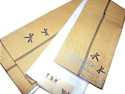 鮮やかな勝者他の場所半巾帯 長尺両面浴衣帯 刺繍トンボ 美弥姫