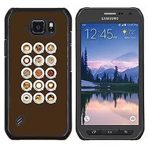 Stuss Case / Funda Carcasa protectora - Barista Café Cappuccino Espuma - Samsung Galaxy S6 Active G890A