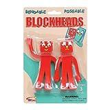 blockhead game - NJ Croce Gumby Blockheads G & J Bendable Figure Pair