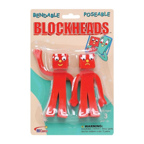 NJ Croce Gumby Blockheads G & J Bendable Figure Pair