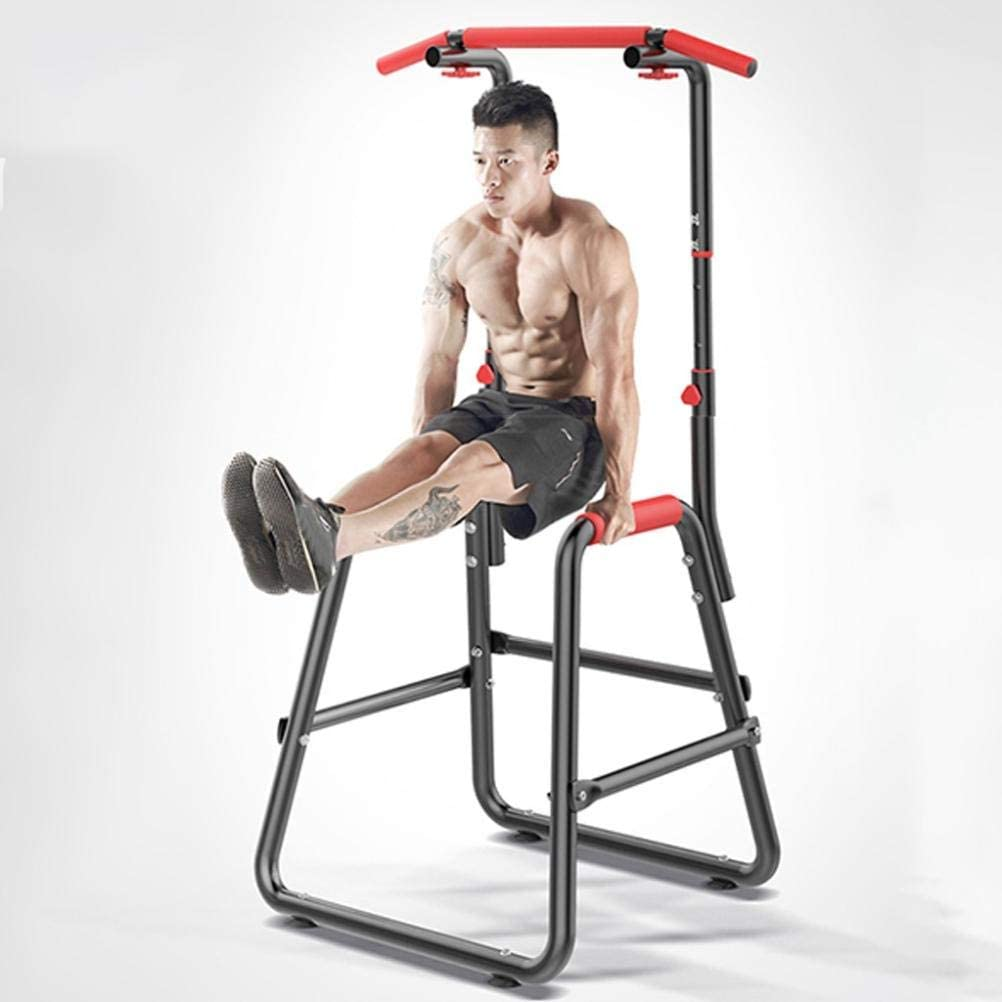 Pull-Up Stand Dip Bar LUGUO Height Adjustable Chin-up Bar Multi-function Dip Power Tower Unisex Home Gym Strength Training Machine Max Dip Station/& Push Workout Abdominal Fitness Core Load 120Kg