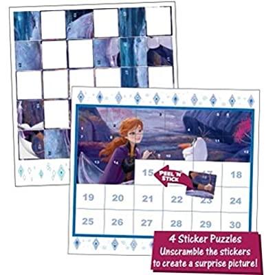 Disney Frozen 2 Magic Pen Painting and Sticker Puzzles  2-in-1 Mess-Free Activities: Toys & Games