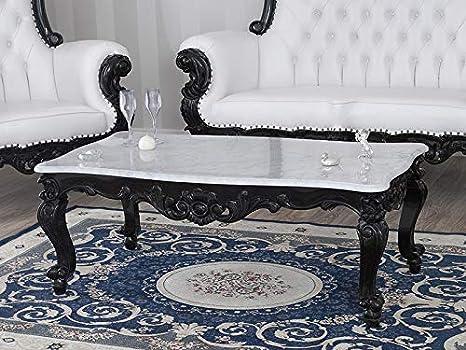 Tavolino Salotto Stile.Tavolino Da Salotto Regina Stile Barocco Dark Nero Laccato