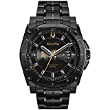 Bulova Men's Grammy Watch' Quartz Stainless Steel Casual, Color:Black (Model: 98B295)