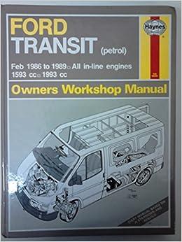Ford Transit Haynes Manual Repair Manual Workshop Manual 2006-2013