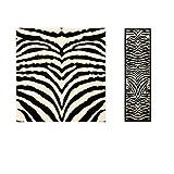 1pc Girls White Black Zebra Stripes Runner Rug, 2'3Ft X 6Ft, Hallway Flooring African Themed Pattern Zoo, Long Narrow Skinny, Wild Animal Safari Entraceway Rug, Jungle