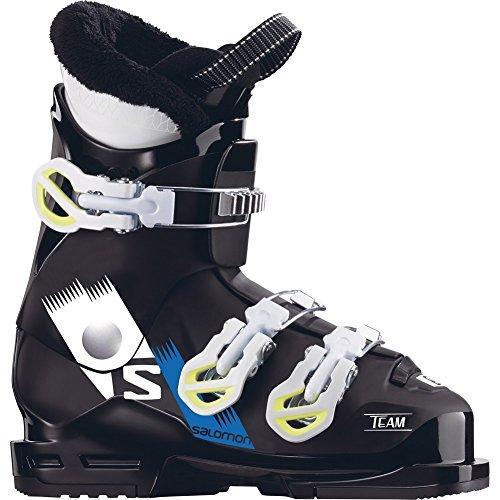 Salomon Team T3 Ski Boots Boys' Black/White/Acid Green (Salomon Kids Ski Boots)