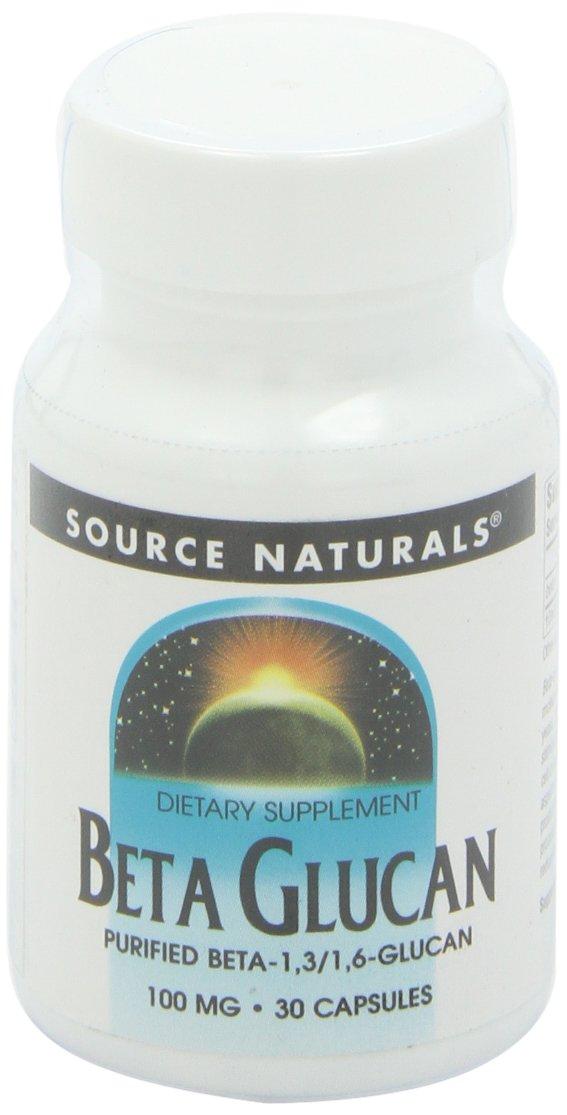 Source Naturals Beta Glucan 1,3/1,6 100mg, 30 Capsules