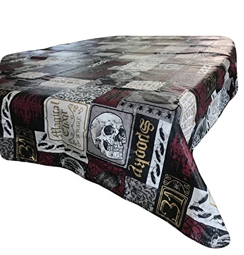 Big Lots Halloween Tablecloth HAUNTED HOLLOW available in 2 sizes (60in. round)