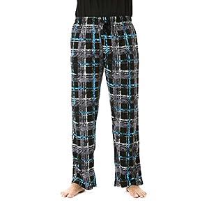 #followme Silky Fleece Soft Touch Men's Plaid Pajama Pants with Pockets