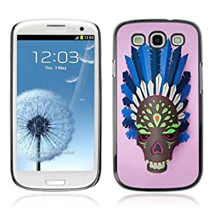 Designer Depo Hard Protection Case for Samsung Galaxy S3 / Indian Skull Mask