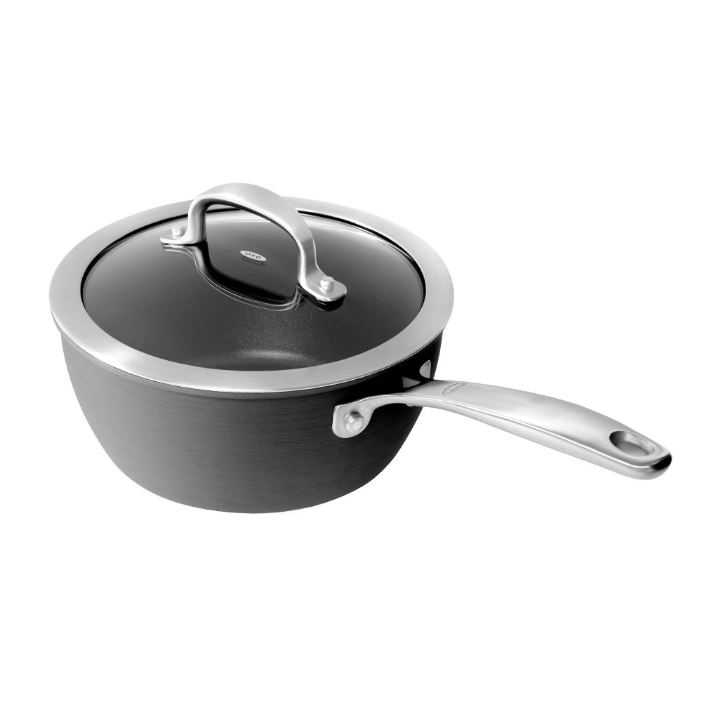 OXO Good Grips® Hard Anodised Non-Stick 16cm Saucepan The Cookware Company CW001472-002