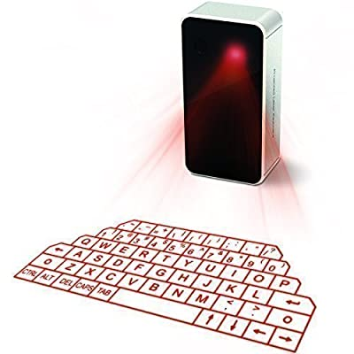 AGS Wireless Laser Projection Bluetooth Virtual Keyboard for Iphone, Ipad, Smartphone and Tablets