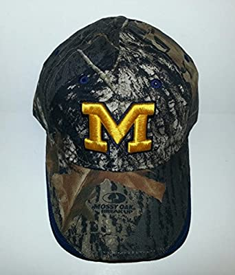 Michigan Wolverines Adjustable Velcro Hat 3D Embroidered Cap from Signa..