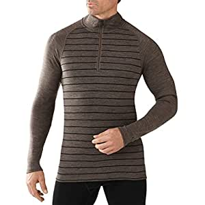 Smartwool NTS Mid 250 Pattern Zip T - Men's Taupe / Black Medium