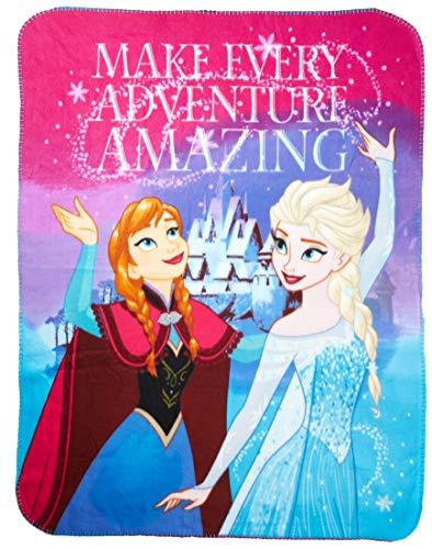 Disney Frozen Fleece Throw Blanket-Soft and Warm , One Size,