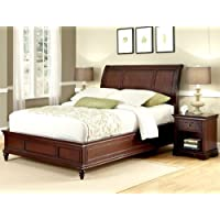 Home Styles Lafayette King Sleigh Bed and Night Stand