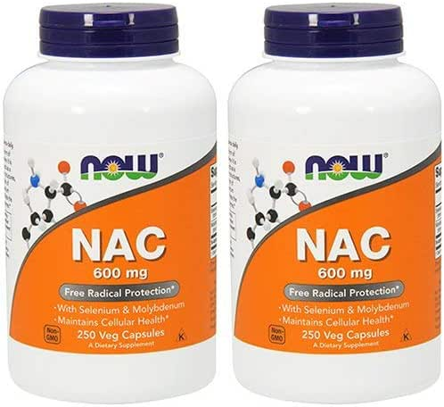 Now Foods Nac-Acetyl Cysteine 600mg, 500Vcaps (250X2)