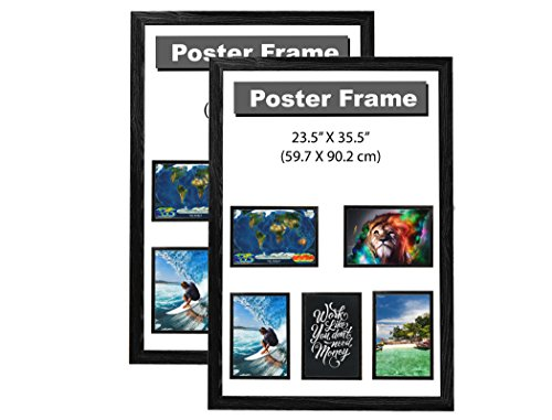 "Premium Poster Frame 24"" x 36"" with 1 1/2 Inch Wide Basic So"