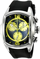 Invicta Men's 6099 Lupah Collection Revolution Chronograph Black Rubber Watch