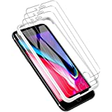 LK [3 PACK] iPhone 8 Plus Screen Protector, [Tempered Glass][Case Friendly] DoubleDefence [Alignment Frame Easy Installation] with Lifetime Replacement Warranty