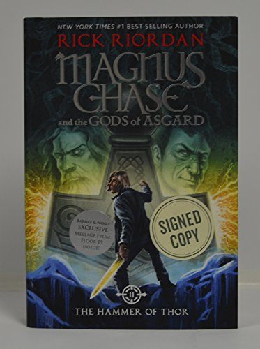 RICK RIORDAN signed Magnus Chase and the Gods of Asgard, Book 2 The Hammer of Thor (Hardcover) Book FIRST EDITION...