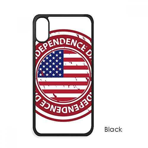 USA Independence Day Flag Red Postmark For iPhone X Cases Phonecase Apple Cover Case Gift
