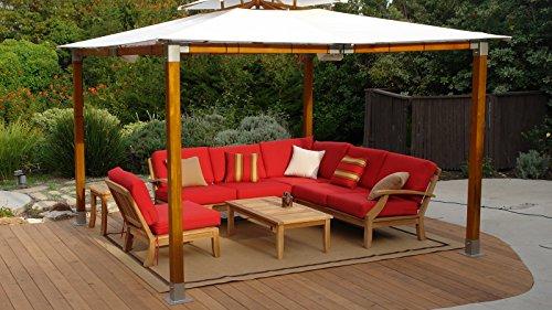 Sunbrella Fabric cushions (Seat & Back) for Samurai 6pc Sectional Sofa Set: 2 Sofas(Left & Right), Corner Piece & Armless Chair : Cushions only #WHSSSSAbCS Right Corner Chair