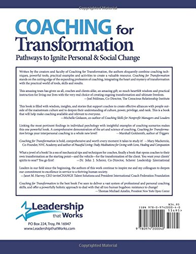 Coaching for Transformation: Pathways to Ignite Personal & Social ...