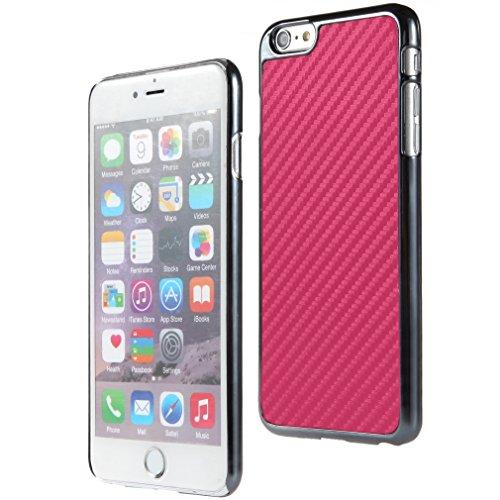 Bralexx 6233Metallic-6221Pink-Carbon Smartphone Case passend für Apple iPhone 6 Plus 13,9 cm (5,5 Zoll) metallic pink