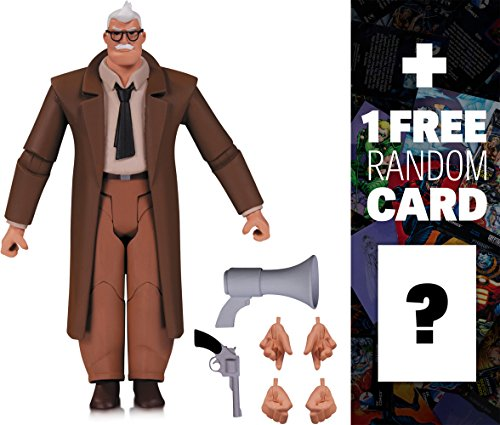 "Commissioner Gordon: ~6"" Batman The Animated Series x DC Collectibles Action Figure + 1 FREE Official DC Trading Card Bundle (33585)"