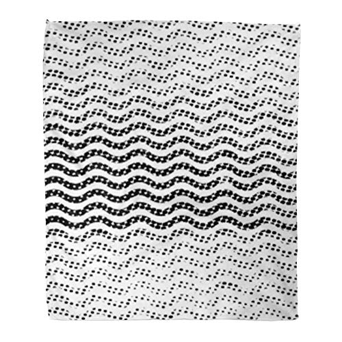 Emvency Throw Blanket Warm Cozy Print Flannel Stripes Splatter Paint Distress Scratch Grain Noise Rectangle Stamp Black Spray Comfortable Soft for Bed Sofa and Couch 50x60 Inches ()