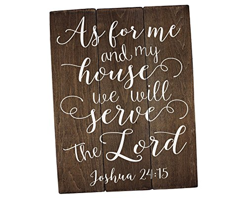 As for me and my house sign Scripture Wall Art Verse on Wood Housewarming Gift Joshua 24:15 Bible Verse Art Bible Verse Sign]()