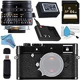 Leica M-P (Typ 240) Digital Rangefinder Camera (Black) 10773 Summicron-M 28mm f/2.0 Lens + 64GB SDXC Card + Card Reader + Deluxe Cleaning Kit + Fibercloth Bundle