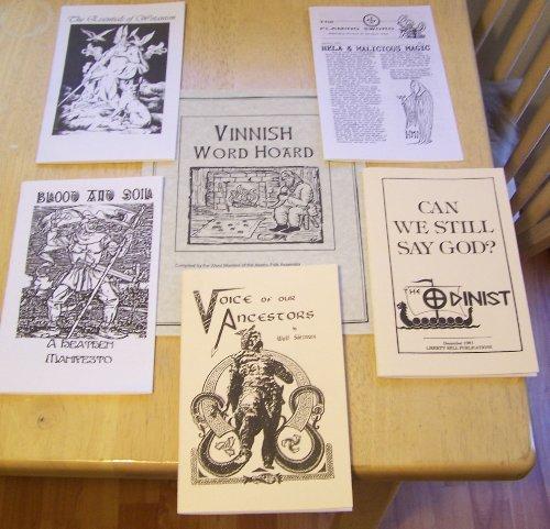 Odinist Odinism Book Lot 8 Volumes Wotanist Wotan Odin Asatru Wotansvolk Heathen Pagan