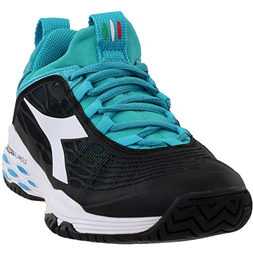Diadora Womens Speed Blushield Fly AG Athletic & Sneakers BlackBlue