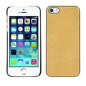 MOBMART Carcasa Funda Case Cover Armor Shell PARA Apple iPhone 5 / 5S - Plain Honey Colored Design Pattern