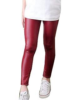 e0b988bce9 GladiolusA Niña Leggings Termicos Leggins Polipiel Cintura Elástica  Pantalones Invierno Jeggings