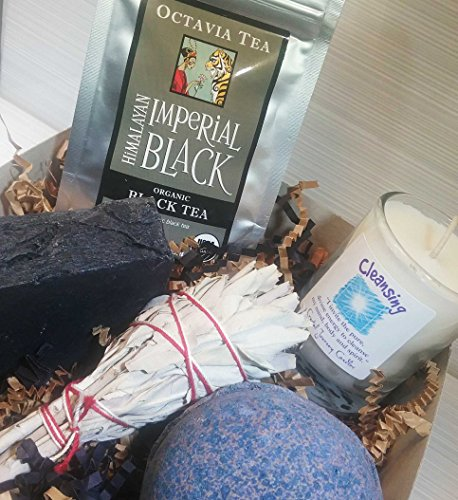 Cleanse Gift Box Gift Set Ideas Bath Bomb Bath Spa Send Gift Best Gift Ideas Activated Charcoal Sage Friend BFF Breakup College Divorce Stress Relief Cleanse Detox