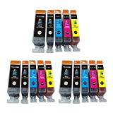 15 Pack ink cartridge for canon ink 220 221 use with Canon PIXMA Ip3600, PIXMA Ip4600, PIXMA Ip4700, PIXMA MX860. Ink Cartridges for Canon inkjet printers.