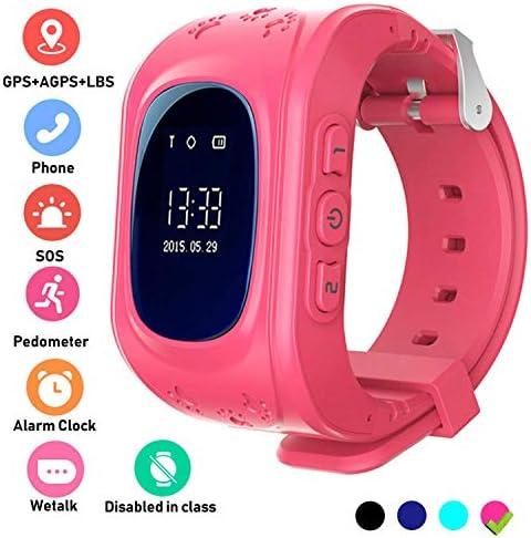 Hangang Rastreador GPS para niños Smartwatch Niños Anti-erra SOS ...