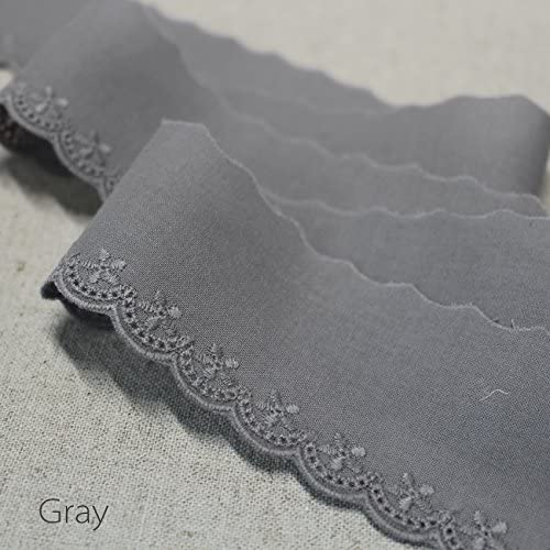 Navy 14yds Embroidery cotton eyelet lace trim 4.5cm YH1205
