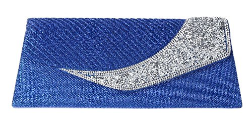 Real para Azul de mano Cartera Style Zone mujer M Hot xzqSZvS