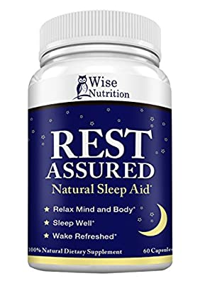 Natural Sleep Aid Pills to Fall Asleep Fast with Melatonin, Minerals and Herbal Blend - Non-Habit Forming - End Insomnia Now! 60 Caps