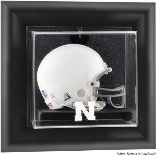 Nebraska Cornhuskers Brown Framed Wall Mountable Mini Helmet Display -