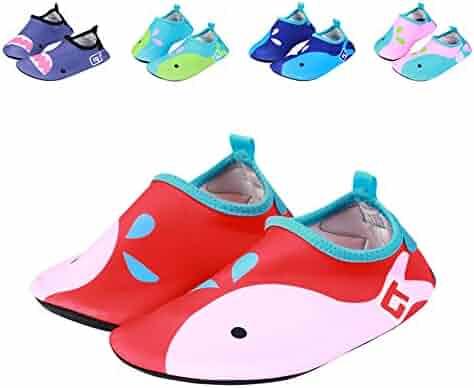 73196a703ab9 fereshte Kids Toddler Breathable Non-Slip Beach Aqua Socks Swim Water Shoes