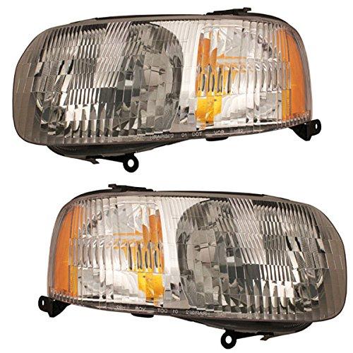 Koolzap For 01-04 Escape Headlight Headlamp Halogen Head Light Lamp Left Right Side SET PAIR