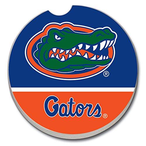 University of Florida Gators on Blue & Orange - Single Ceramic Car Coaster
