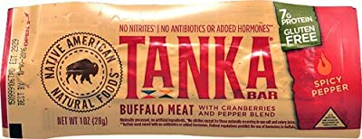 Tanka Bar Buffalo Meat Gluten Free Spicy Pepper -- 1 Bar